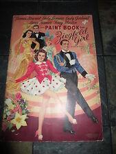 ZIEGFELD GIRL PAINT BOOK VINTAGE ORIG. 1941 5 ACTORS NEAR MINT #3465 MERRILL PUB