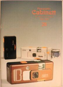 Photographica Cabinett 28 Rollei Bitter Boltavit Praktica Canon Colani Nikon Ica