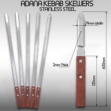 2X Kebab Skewers Stainless Steel Adana Skewer Koobideh Shish Kebab BBQ Skewers