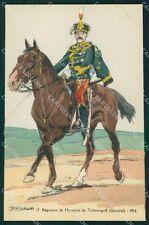Military Russia Russian Soldier Horse Robiquet Tchernigoff postcard XF3617