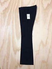 NWT Zara Woman Size 8 Black Stretch Cotton Career Dress Pants Boot Cut 33L