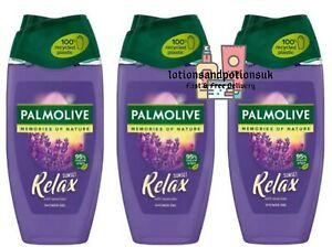 Palmolive Memories of Nature SUNSET RELAX Ladies Shower Gel 250ml - 3 Pack