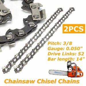 "2X Chainsaw Chain 14"" in 52 Drive Links 3/8"" 0.05"" Fits HUSQVARNA 135 235 236 UK"