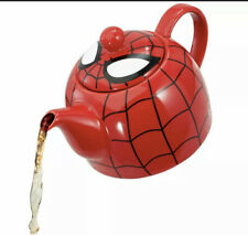 Marvel I Am Spider-man Ceramic Teapot With Web Mask Detail Lid (red)