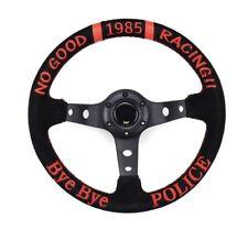 Bye Bye Police 330mm Suede Leather Steering Wheel Universal