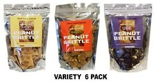 Davao Candy Company - Variety 6 Pack - Classic, Mango, & Ube flavored BRITTLES