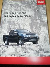 Isuzu Rodeo Max Plus & Denver Max brochure c2006