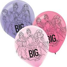 "Disney Princess Party Supplies 6ct. 12"" Helium Quality Latex Balloons(e)"