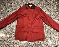 LORO PIANA Horsey Red Nylon Brown Leather Collar Men's Jacket