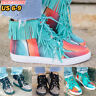 Women Short Ankle Boots Tassel Lace Up Sneakers Trainers Casual Shoes Size 6-9