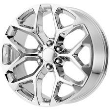4 Replica V1182 Gm Snowflake 24x10 6x55 27mm Chrome Wheels Rims 24 Inch