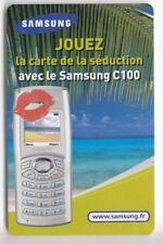 FRANCE  TELECARTE / PHONECARD  PREPAYEE .. 100U SAMSUNG FCB JEU GAMES 2003+N°