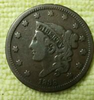 REDUCED!!!     1838 LARGE CENT IN VERY FINE CONDITION!!!