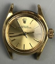 Vtg ROLEX 18K Gold Ladies Oyster Perpetual ref.6619 Automatic c.1967 Swiss As Is