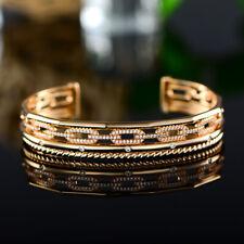 Sevil 18K Gold Plated Filigree Open-Cuff Bangle With Swarovski Elements