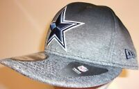 New Era 9Fifty Dallas Cowboys NFL Football Cap Hat Snap Back Shadow Fade black