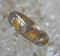 Damen Ring mit Brillant Solitär Diamant aus Palladium 585 Gold Christian Bauer
