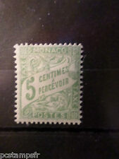 MONACO 1905/09, timbre TAXE 2, type DUVAL, neuf**, VF MNH STAMP, TAX