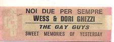 STICKER JUKE BOX - WESS & DORI GHEZZI - NOI DUE PER SEMPRE - THE GAY GUYS -