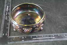 NORTHWOOD AMETHYST CARNIVAL GLASS GRAPE & CABLE 3 FOOTED CANDY NUT DISH