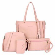 4Pcs/set Women Leather Handbag Shoulder Tote Purse Satchel Messenger Bag Ladies