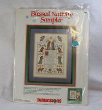 Dimensions Blessed Nativity Sampler 8357 Christmas Cross Stich Kit Brand New NIP