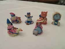 6 LILLIAN VERNON SMALL CANDLE HOLDERS NURSERY RHYME CHARACTERS - CAKE DECORATION
