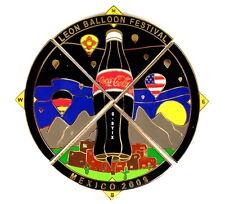 """COCA COLA BALLON """"SPECIAL SHAPE"""" Pin / Pins - LEON 2009 G-BYIX / 4 PINS!!!!"""
