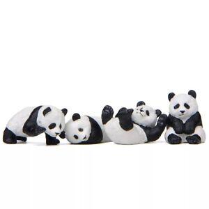 Panda (Set Of 4 ) Resin Figurine Micro Landscape Garden Miniature Decoration