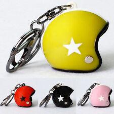 1Pcs Creative 3D Car Motorcycle Motor Helmet Pendant Key Chain Keychain Keyring