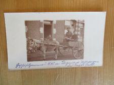 WW1 Tergnier b Laon Stab Thüringisches Infanterie-Regiment Nr.95 Postwagen