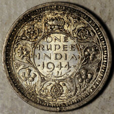 INDIA (BRITISH) SILVER 1 RUPEE 1944 (BEAD BOMBAY) NO SERIF S&W-9.27 (?)