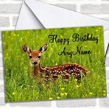 Deer Personalized Birthday Card