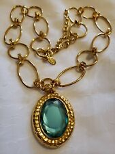 Joan Rivers PENDANT NECKLACE Easy Elegance QVC Handcrafted Topaz Colored