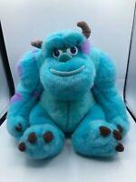 Walt Disney Store Monsters Inc Sulley Blue Pixar Plush Kids Stuffed Toy Animal