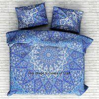 Indian Cotton Star Mandala Double Bed Set Quilt Duvet Cover Doona Blanket Cover