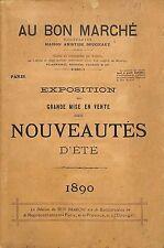 """CATALOGUE GRAND MAGASIN DEPARTMENT STORE CATALOG PARIS """" AU BON MARCHE """" 1890"""