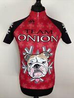 Pactimo Team Onion Bulldog Park City Utah Cycling Jersey Shirt Sleeve Shirt M