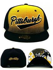 Pittsburgh New City Family Kings Choice Penguins Black Gold Era Snapback Hat Cap