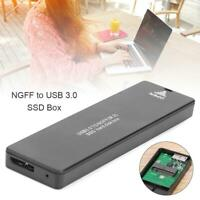 NGFF SATA M.2 to Type-C 3.0 Hard Disk Case External Hard Drive Enclosure for PC