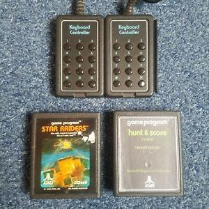 Pair Of Keyboard Controllers - Atari 2600 CX50 Star Raiders Hunt & Score Tested