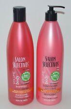 SALON SELECTIVES VOLUME BODY SHAMPOO CONDITIONER HAIR COLOR PROTECT 22.5 OZ SET