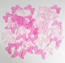 100 x baby shower party table decorations paper butterflies PINK confetti