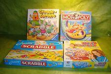 Lot de 4 jeux de société: croque carotte  monopoly junior qui est-ce? scrabble