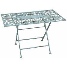 Gartentisch Rechteckig Metall Top Kunststoff Gartentisch John