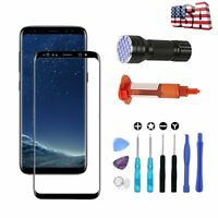 For Samsung Galaxy S8 S8 Plus Front Glass Screen OEM Replacement Repair Tools