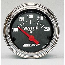 AutoMeter 2532 Traditional Chrome Electric Water Temp. 100-250 Deg. Gauge 2-1/16