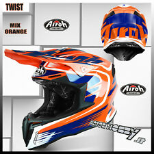 CASCO CROSS ENDURO MOTARD AIROH TWIST MIX ORANGE TAGLIA S (55-56)