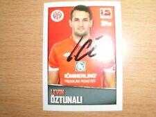 1  Topps Bundesliga Sticker 16/17  Levin Öztunali  original signiert rar !!!