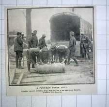 1917 Canadian Gunners Unloading Huge Shells For Long-range Battery
